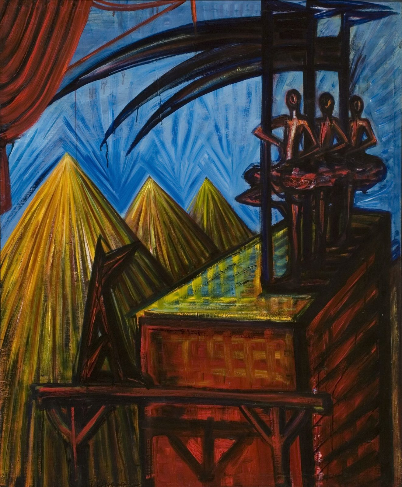 El Kazovszkij: Untitled (Parcae with Scythes)