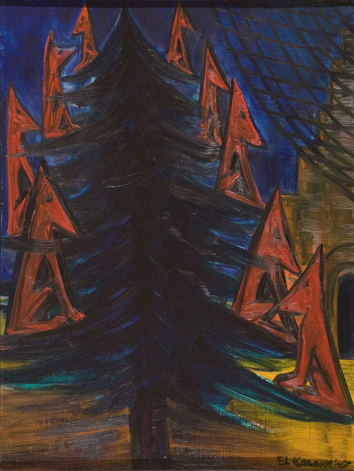 El Kazovszkij: Nine Wolves on the Christmas Tree