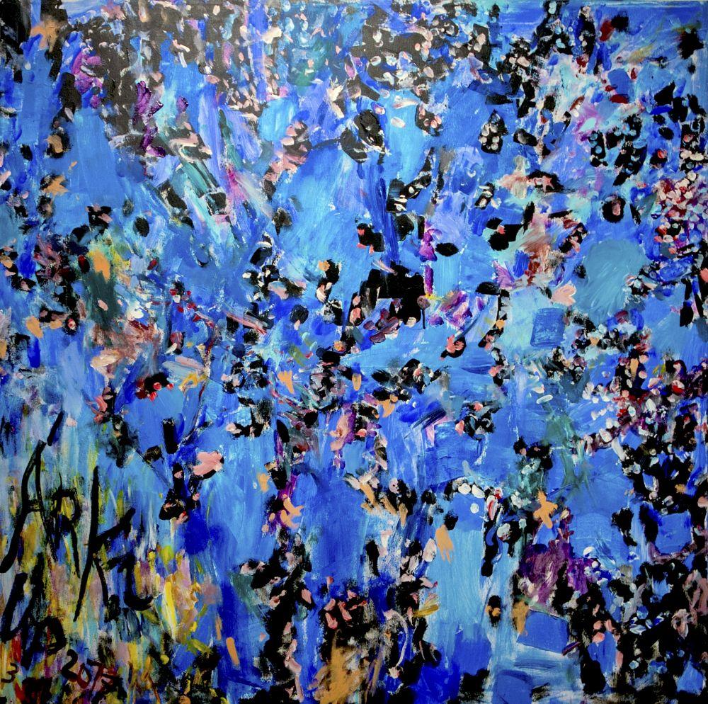 Ujházi Péter: Árki tavasz (kék)