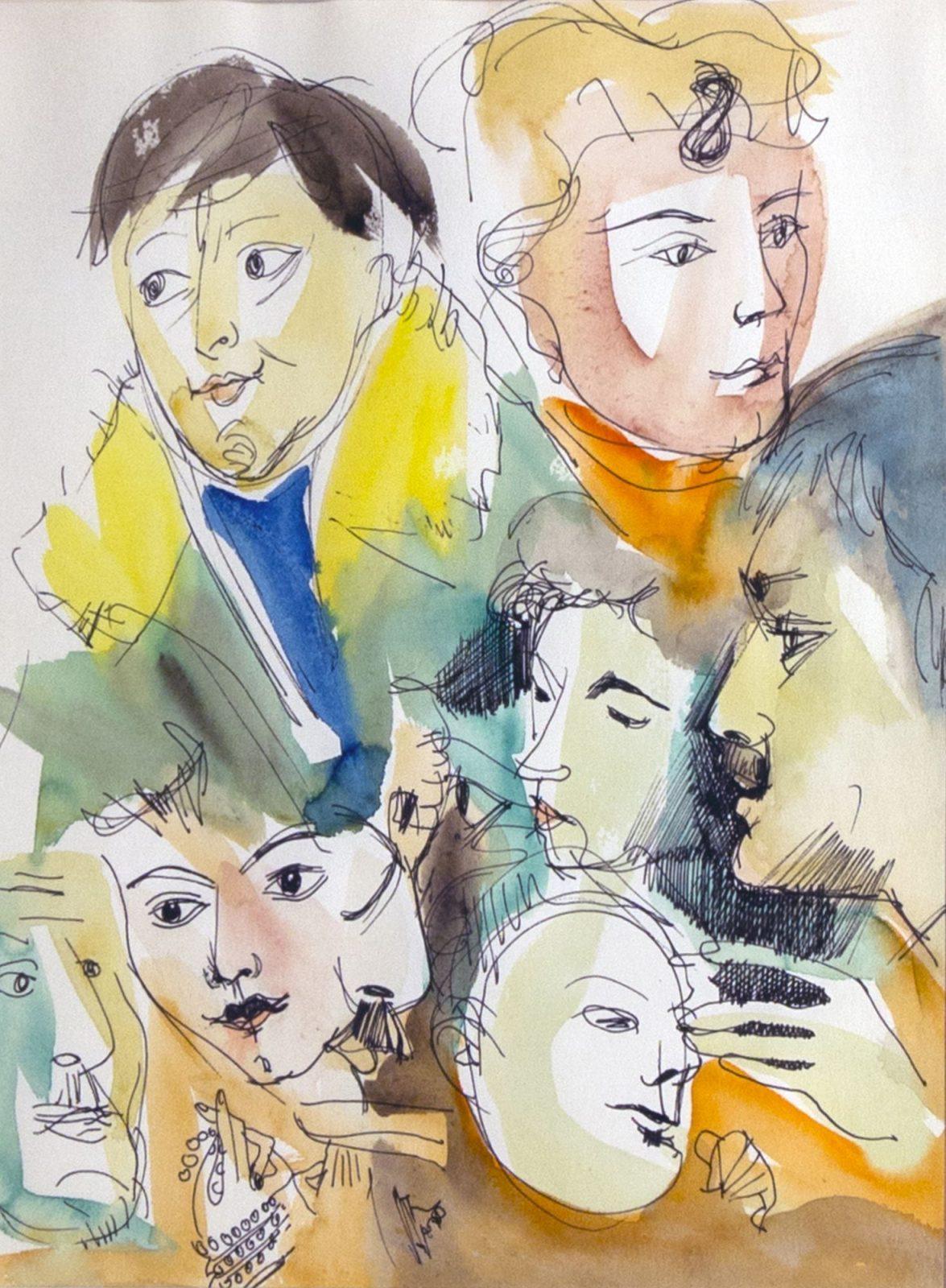 Endre Rozsda: Friends IV.