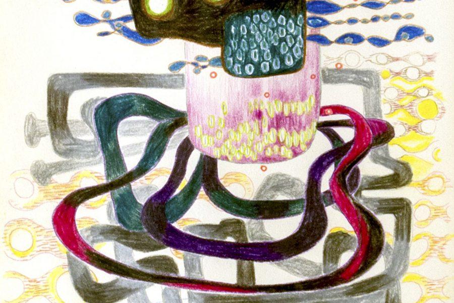 Rozsda Endre: Csendélet szokatlan asztalon II