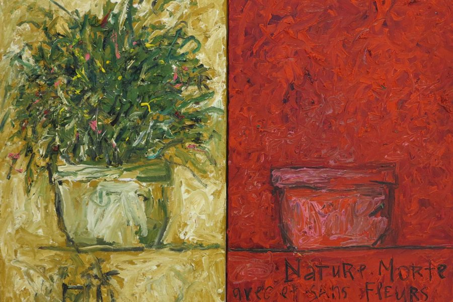 aatoth franyo: Csendélet virággal és anélkül