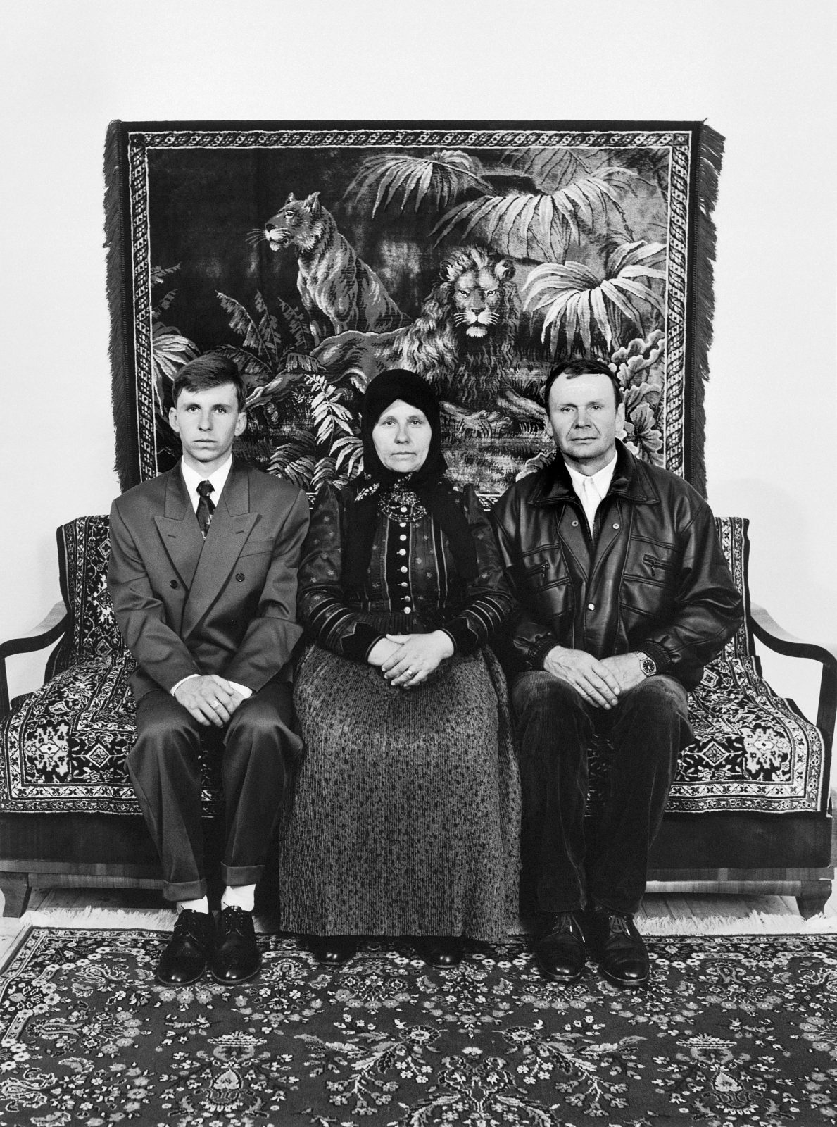 Péter Korniss: Husband, Wife and Son in Their Home