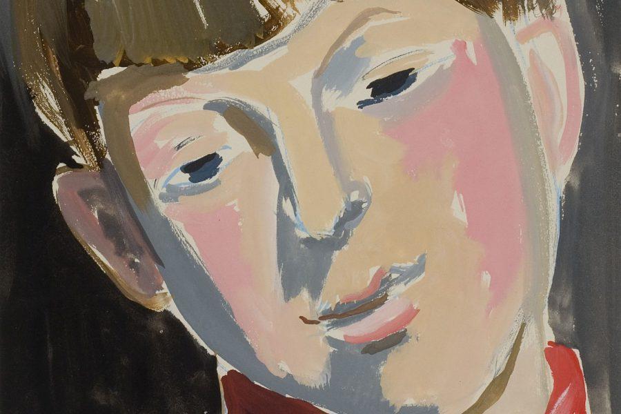 Rozsda Endre: Rózsaszín portré