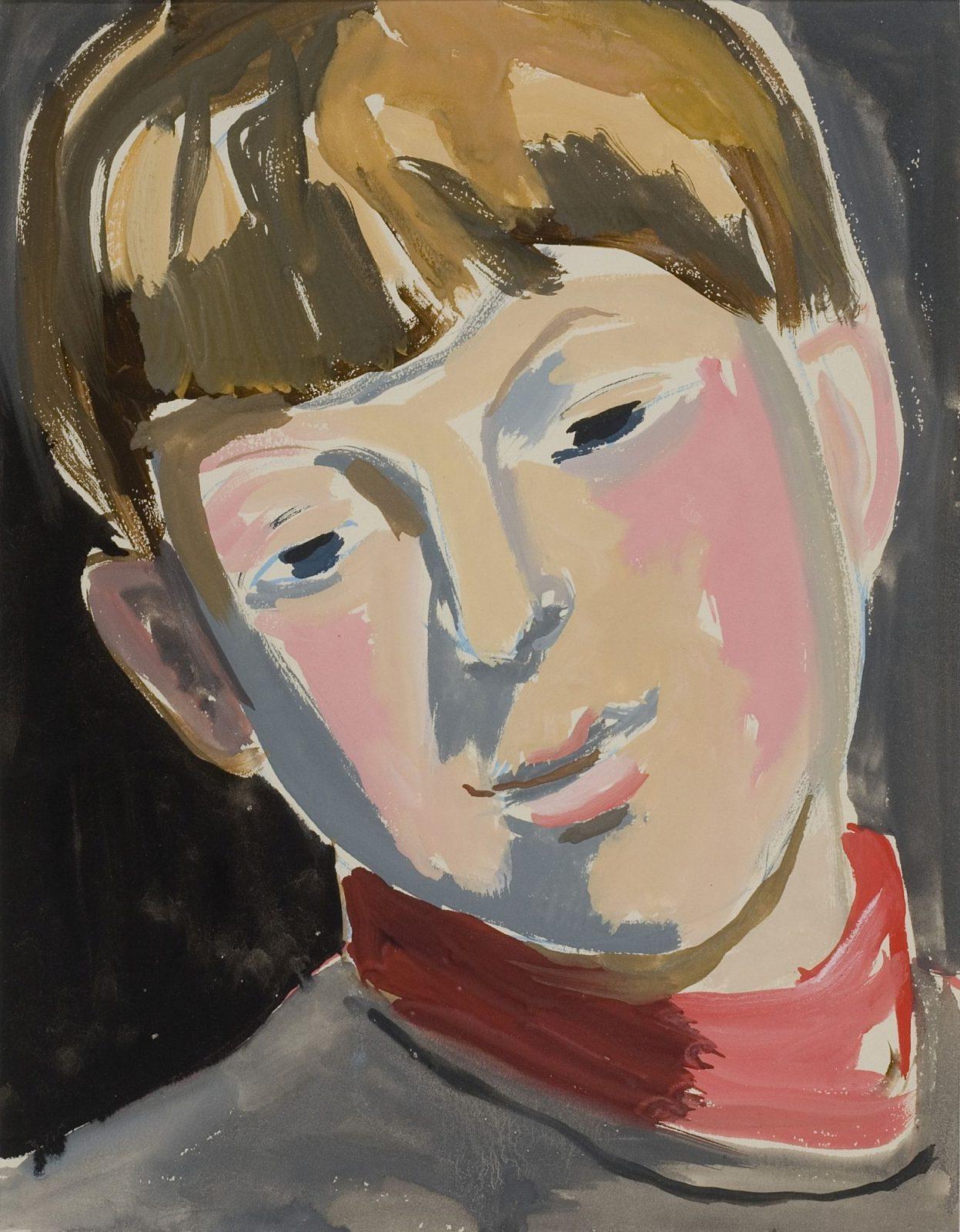 Endre Rozsda: Portrait in Pink