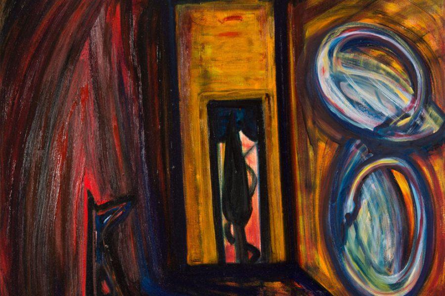 El Kazovszkij: Golden Room. Two Swans on the Wall. Sitting Red Cloud II.