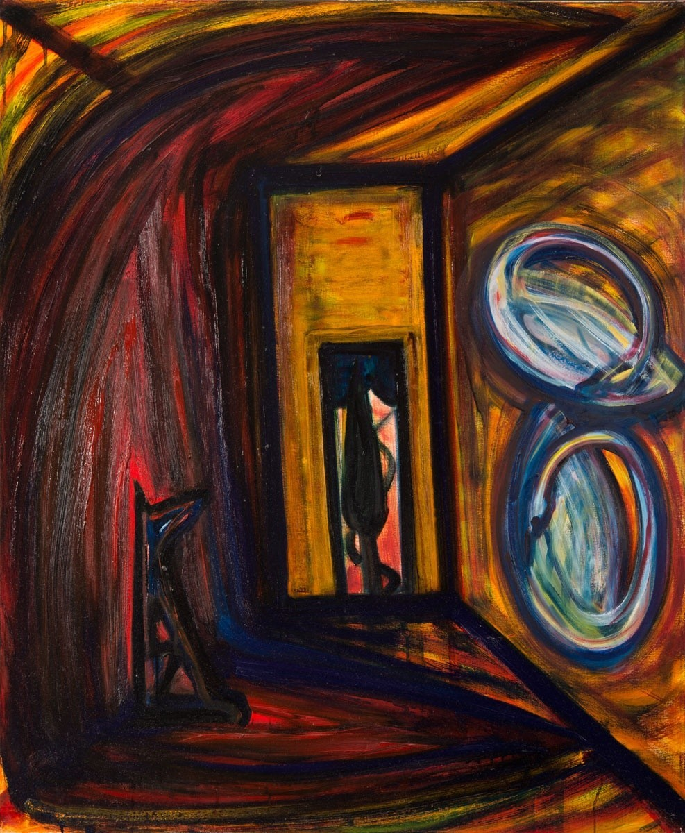 El Kazovszkij: Arany szoba. Két hattyú a falon. Ülő piros felhő