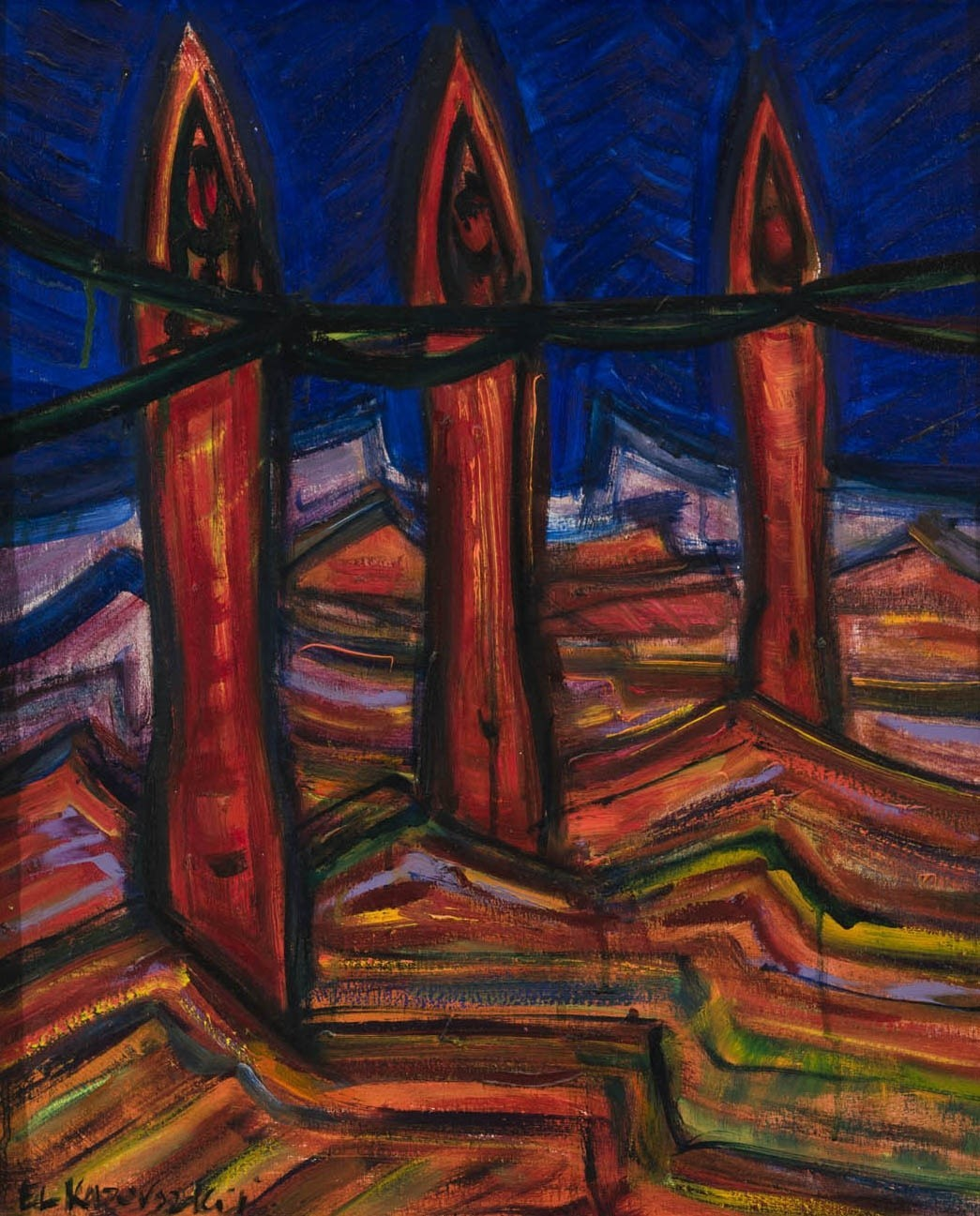 El Kazovszkij: Three Parcae in the Desert