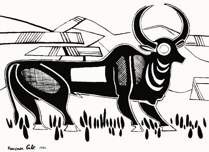 Françoise Gilot: Indian Buffalo