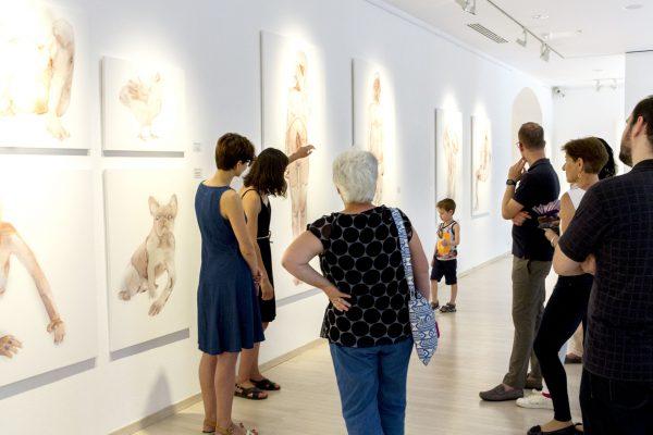 Tárletvezetés Nemes Annával a kiállításán (2)