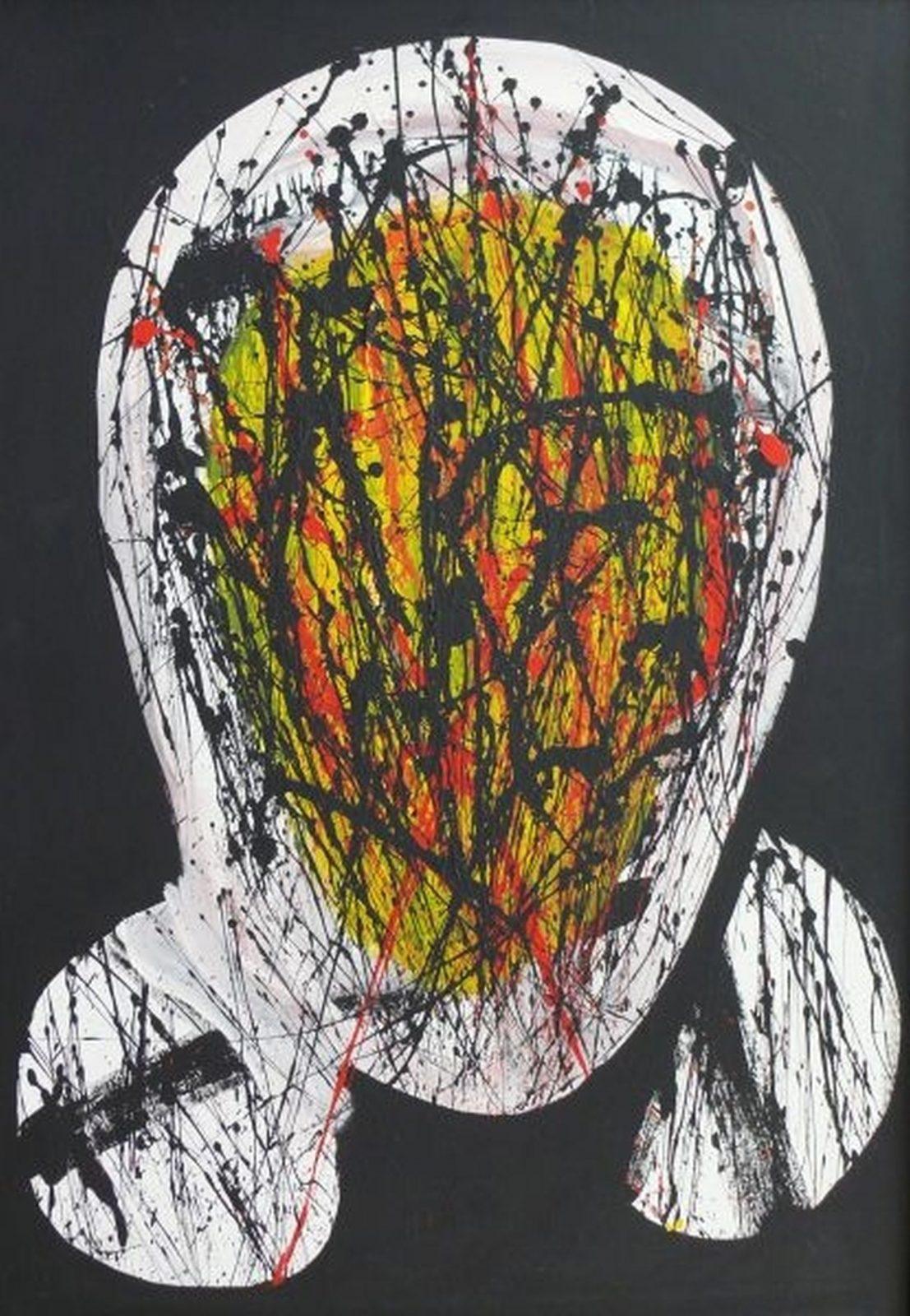 László feLugossy: Splashed Head I.