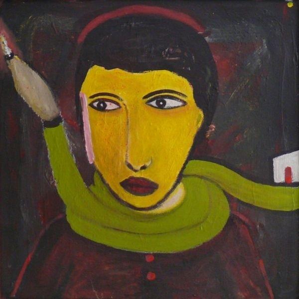 László feLugossy: My Youthful Portrait with Hose-Scarf