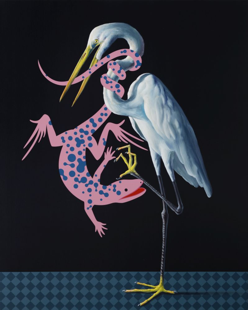 Máté Orr: Egret and Lizard