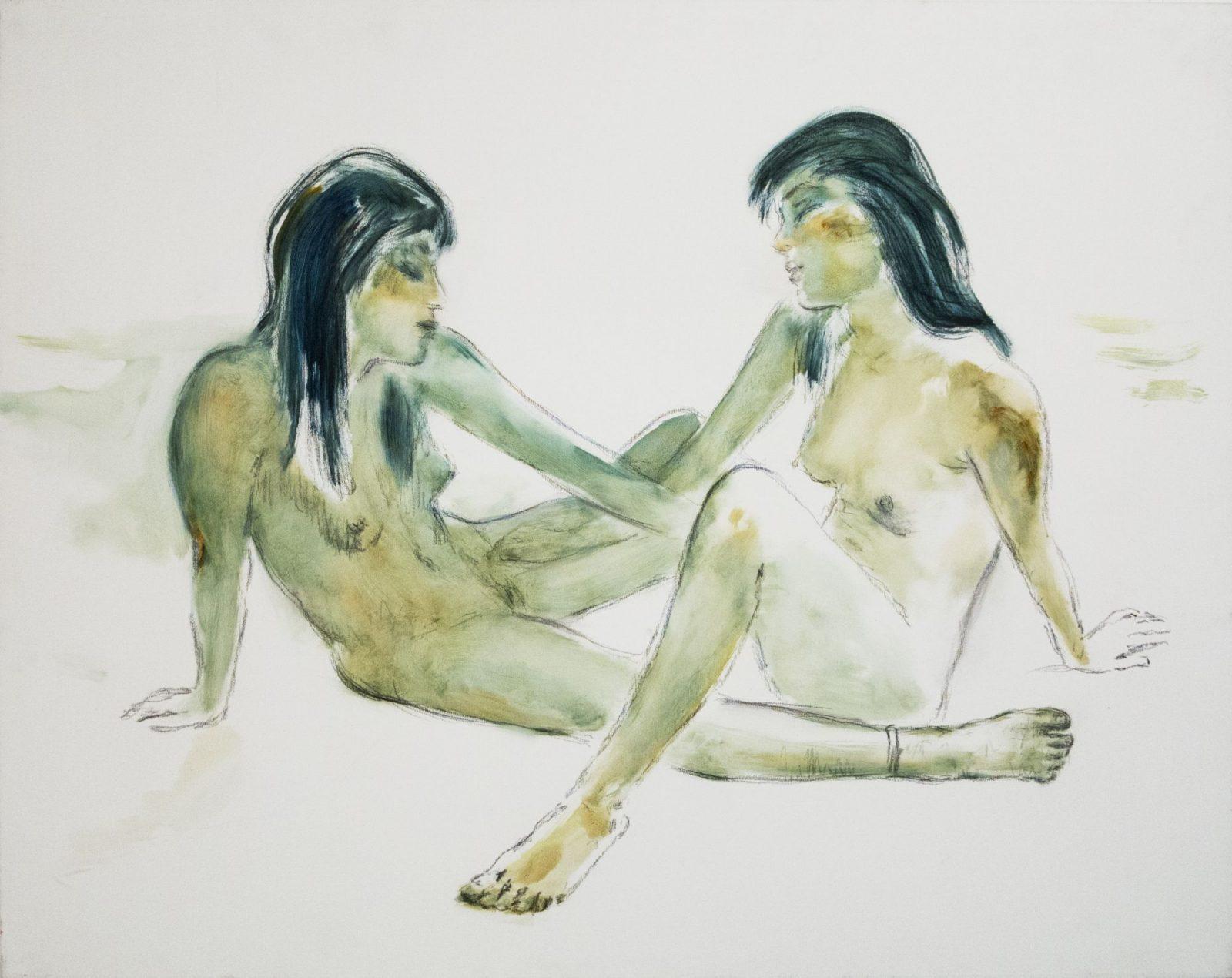 Szotyory László: Indián lányok – akvarellesen festve