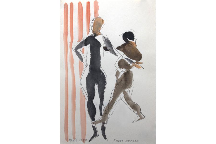 Rozsda Endre: Akvarell I.