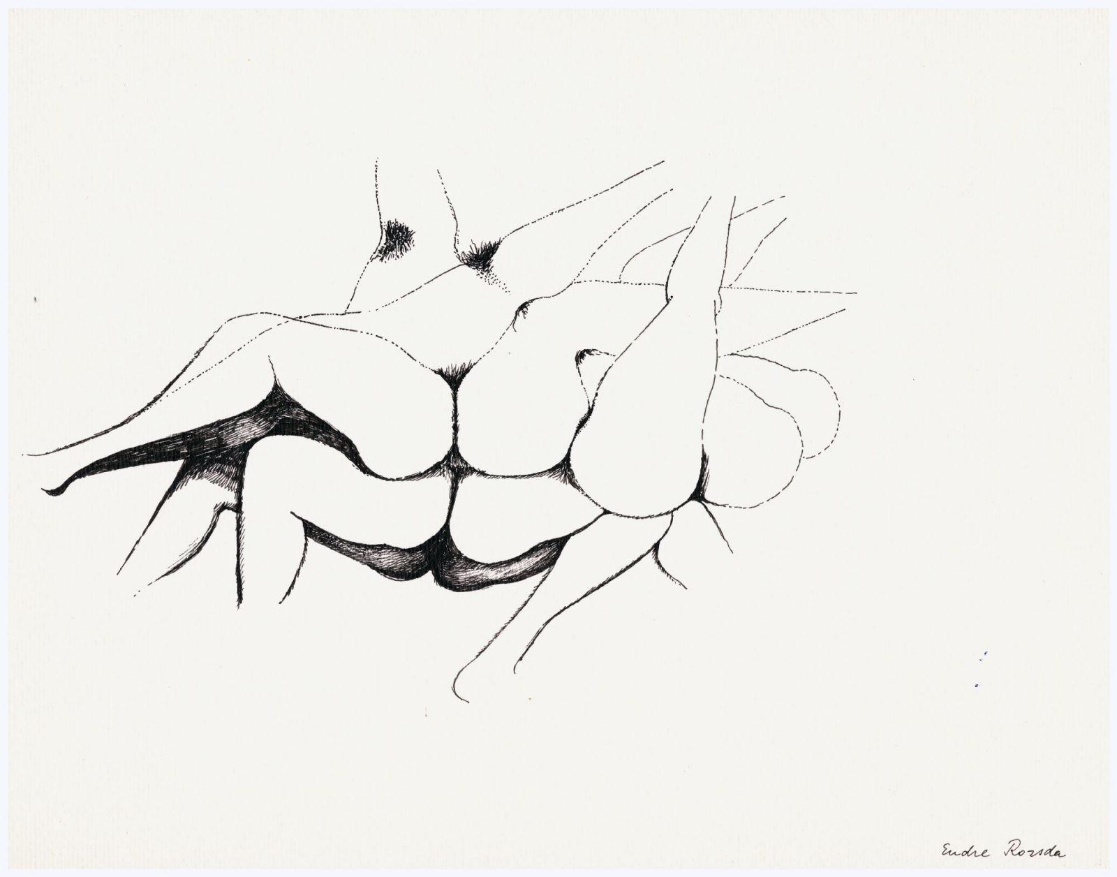 Endre Rozsda: Woman-flower