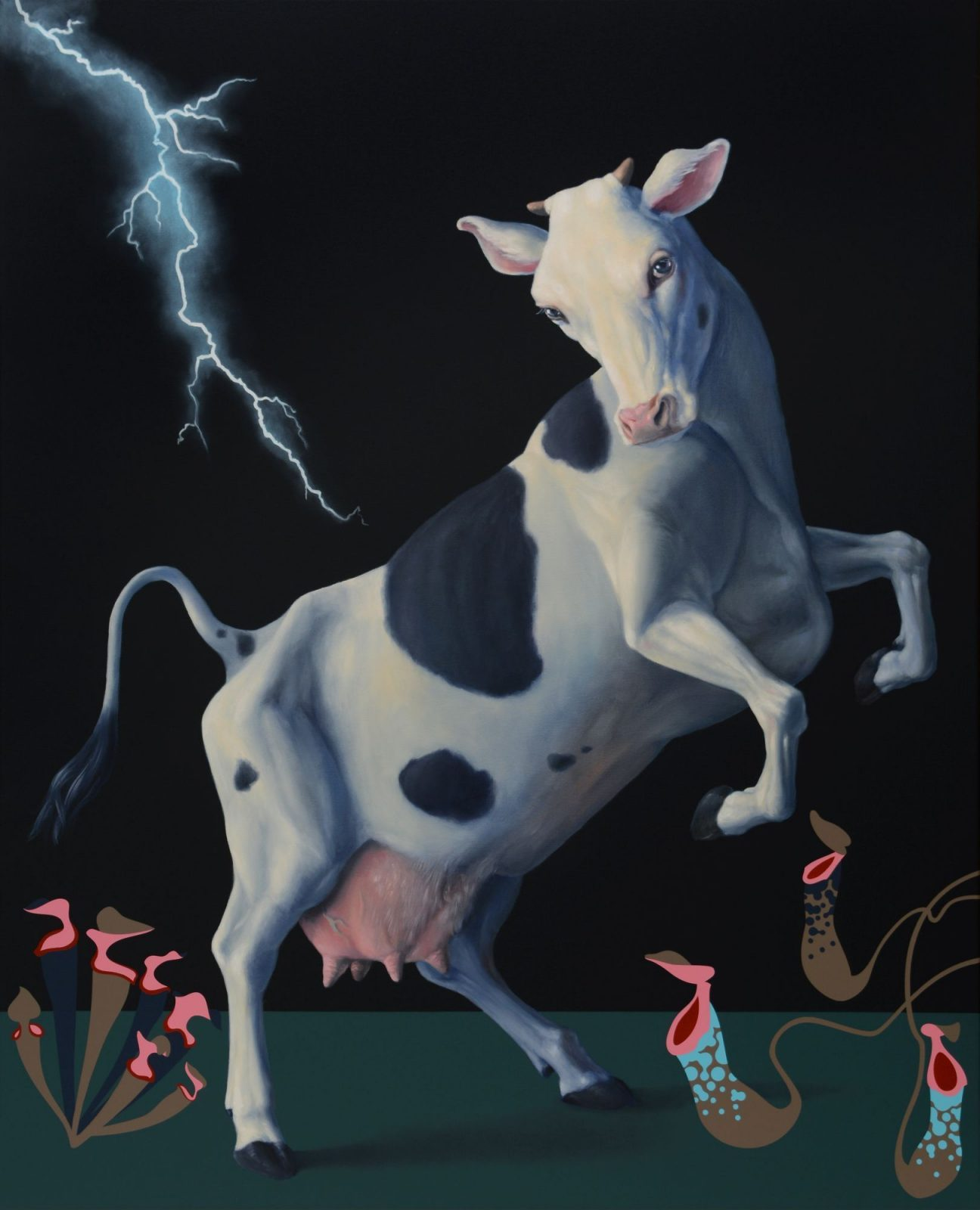Máté Orr: Cow Frightened by a Thunderstorm