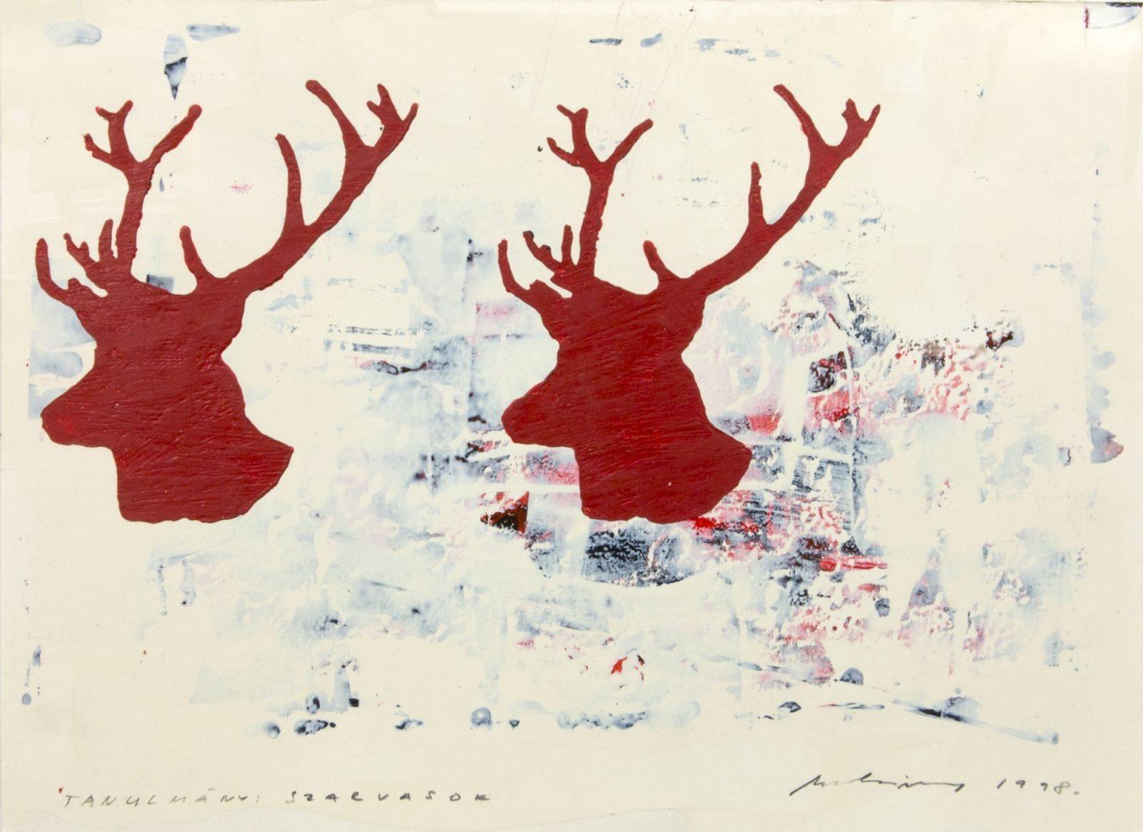 László Mulasics: Study: Deer