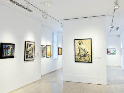 Françoise Gilot kiállítása - enteriőr, Várfok Galéria, 2016.